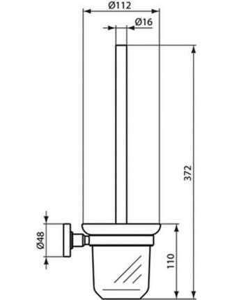 Ершик Ideal Standard IOM матовое стекло