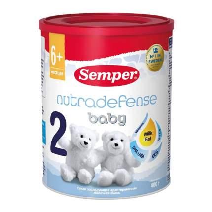 Молочная смесь Semper Baby Nutradefense от 6 до 12 мес. 400 г
