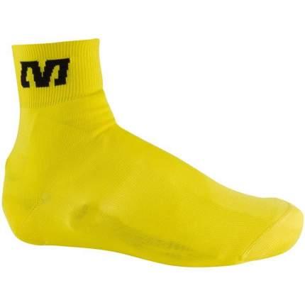 Бахилы Mavic Knit Shoe Cover, желтые, S
