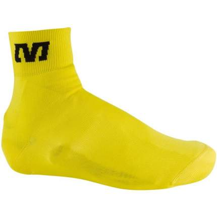 Бахилы Mavic Knit Shoe Cover, желтые, M