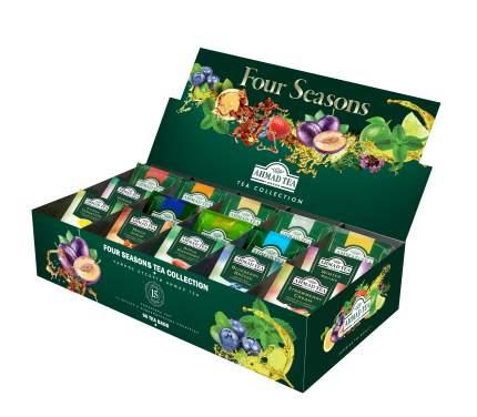 Чайное ассорти Ahmad Tea four season's 15 вкусов 90 пакетиков