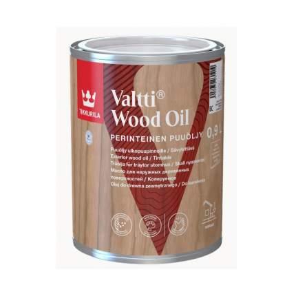 Масло защитное Tikkurila Valtti Puuöljy для террас и мебели колеруемое 0,9 л