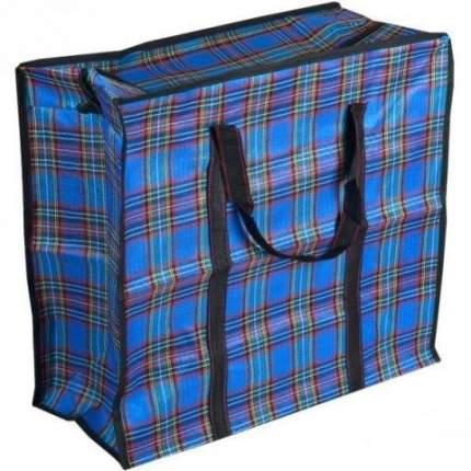 Тканевая хозяйственная сумка на молнии, 40х35х15 см (Цвет: Синий )