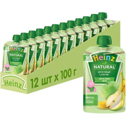 Пюре фруктовое Heinz фруктовый салатик, 6 мес., 12шт