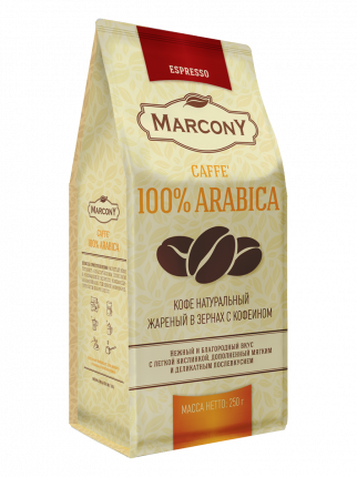 Кофе Marcony Arabica 100% в зернах 250 г