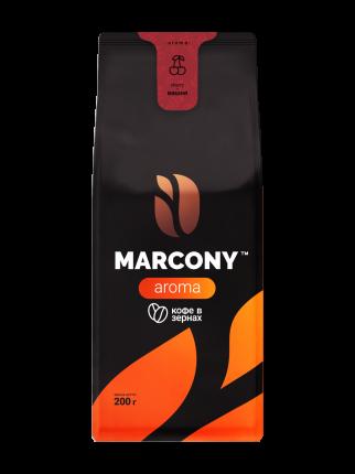 Кофе Marcony AROMA со вкусом вишни в зёрнах 200 г