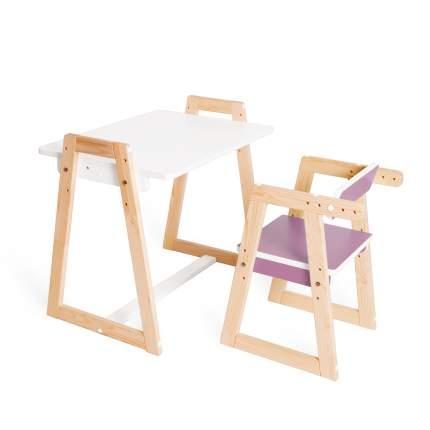 Детская растущая парта и стул Я САМ Краски, цвет Сиреневый