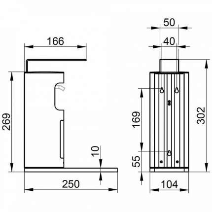 Дозатор жидкого мыла Keuco Plan 34954010100