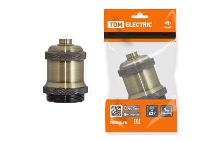 """Патрон TDM ELECTRIC подвесной Е27, металлический """"Лофт"""", бронза SQ0335-0048"""
