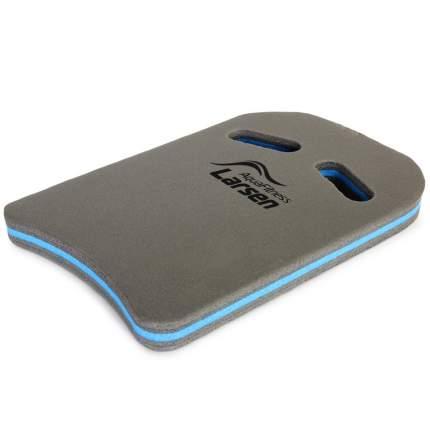 Доска для плавания Larsen Aqua Fitness графит/бирюзовая