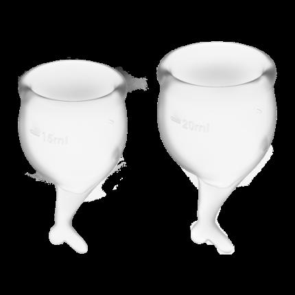 Менструальные чаши Satisfyer Feel Secure 15 и 20 мл прозрачные