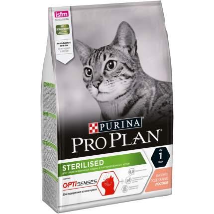 Сухой корм для кошек PRO PLAN Sterilised Optisenses, для стерилизованных, лосось, 3кг