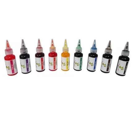 Краска для животных CRAZY LIBERTY Temp-Ink, смываемая, набор из 9 цветов, по 30 мл