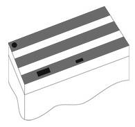 Комплект пластиковых крышек Juwel для аквариума Rio 400, черные, 150x50 см, 3шт