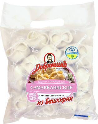 Манты Добрынинъ Самаркандские замороженные 800 г