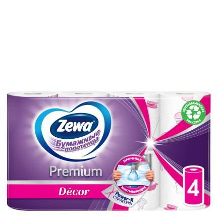 Бумажные полотенца Zewa premium decor 4 рулона, в ассортименте