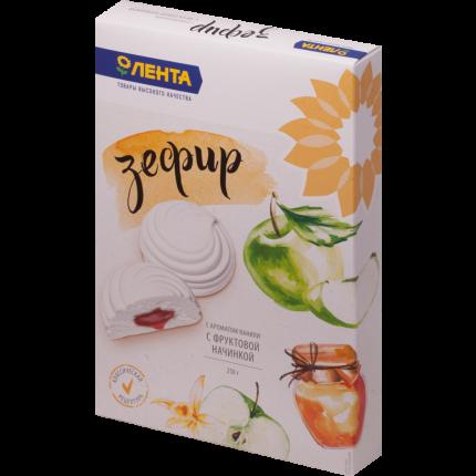 Зефир Лента с фруктовой начинкой и ароматом ванили 250 г