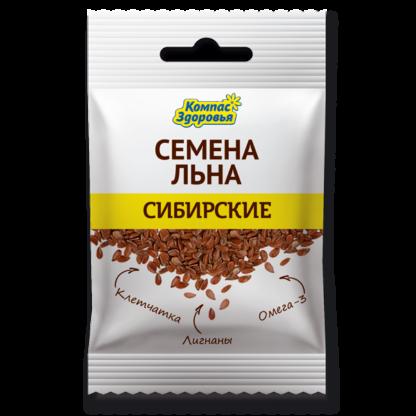 Льна семена СИБИРСКИЕ 40г  (Компас Здоровья)