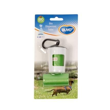 Контейнер для пакетов Duvo+ зеленый, белый, 2 рулонов по 20 шт