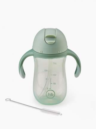 Поильник Happy Baby с трубочкой и ручками 260мл зеленый 14010olive