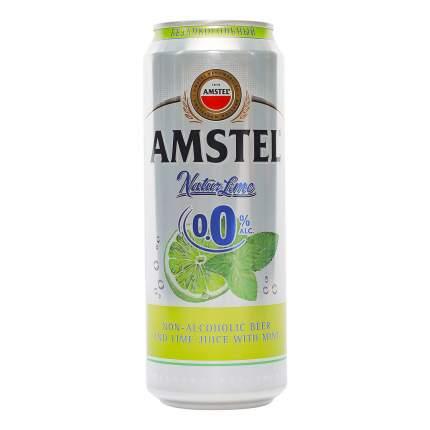 Пиво безалкогольное Amstel Лайм и мята нефильтрованное 0,43 л