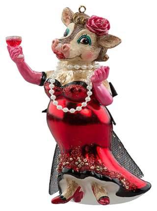 Елочная игрушка Holiday-Classics Корова-леди в красном платье 204938-10 13 см 1 шт.