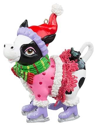 Елочная игрушка Holiday-Classics Корова-фигуристка 208957 9,5 см 1 шт.