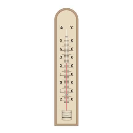 Термометр комнатный Д-7, деревянный, цв. коричневый