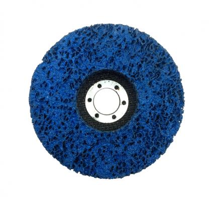 Круг тарельчатый шлифовальный из нетканого материала  125x22mm синий Orientcraft