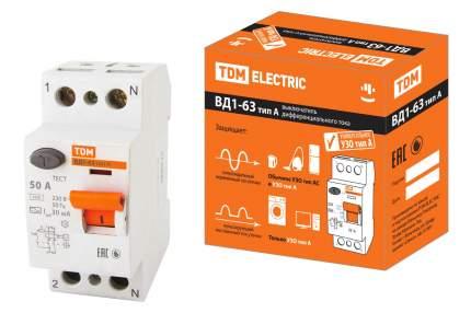 Устройство защитного отключения TDM ELECTRIC ВД1-63 2Р 50А 30мА SQ0203-0079
