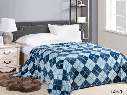 Плед АльВиТек avt442611 180/124-pf 180x200 см, синий/голубой
