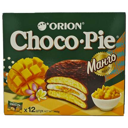 Пирожное Orion Choco Pie Mango 360 г