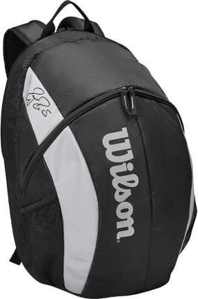 Рюкзак Wilson Team Backpack, WR8005901001, с карманом под 2 тен.ракетки, черно-серый
