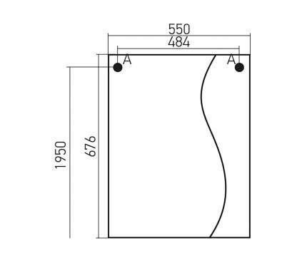 Шкаф Mixline Классик 55 левый (525512)