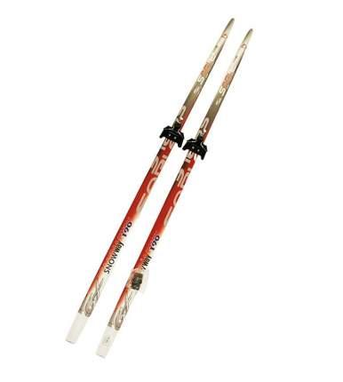 Лыжный комплект (лыжи + крепления) 75 мм 190 СТЕП (без палок) Sable snowway red