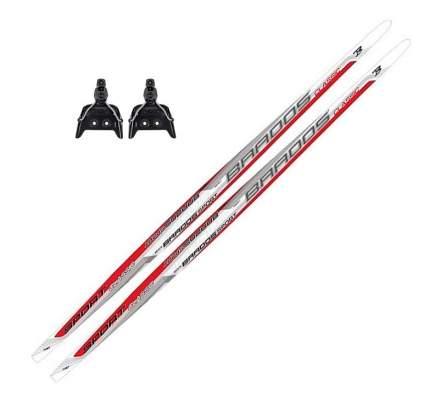 Лыжный комплект (лыжи + крепления) 75 мм 185 СТЕП (без палок) Brados LS classic red