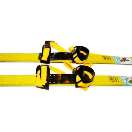 Лыжный комплект (лыжи + палки + крепления) 75 мм 120 СТЕП Loopline ski camp yellow