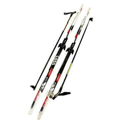 Лыжный комплект (лыжи + палки + крепления) 75 мм 160 СТЕП Peltonen delta black/red/white