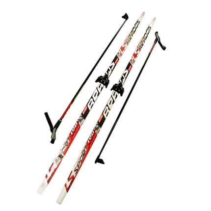 Лыжный комплект (лыжи + палки + крепления) 75 мм 150 СТЕП Brados LS Sport red