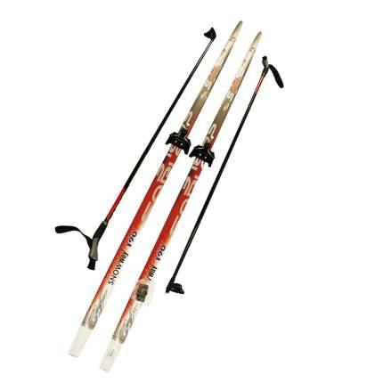 Лыжный комплект (лыжи + палки + крепления) 75 мм 160 Sable snowway red