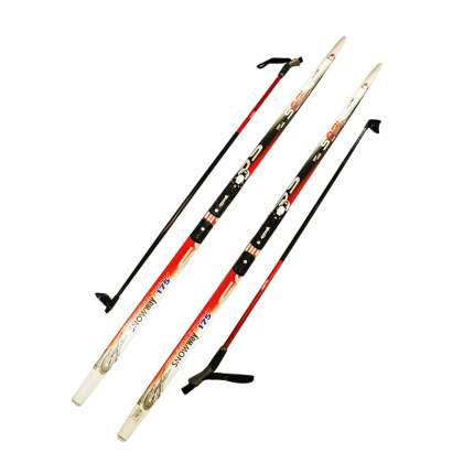Лыжный комплект (лыжи + палки + крепления) NNN 205 (с палками) Step-in Sable snowway red