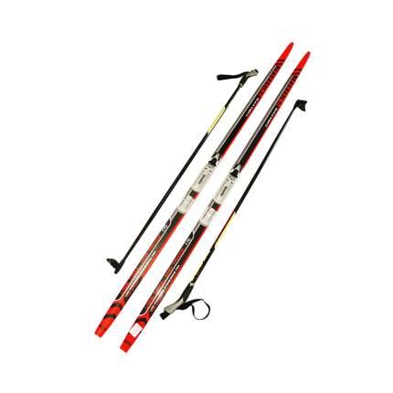Лыжный комплект (лыжи + палки + крепления) NNN 170 СТЕП Step-in Trek universal red