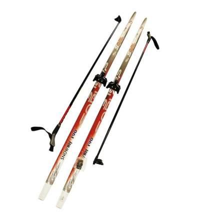 Лыжный комплект (лыжи + палки + крепления) 75 мм 205 СТЕП, Sable snowway red