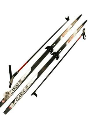 Лыжный комплект (лыжи + палки + крепления) 75 мм 195 СТЕП Jarvinen Classic black/white/red