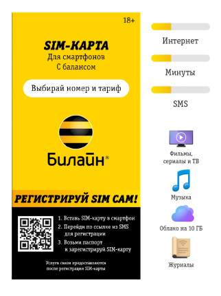 Сим-карта Билайн тариф Не один дома 1