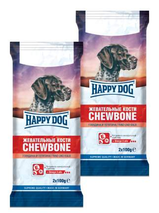 Лакомство для собак Happy Dog , палочки, говядина, телятина, 400г, 2 шт