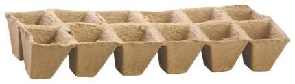Торфяной горшок для рассады 64354 50х50 мм, квадратные (блок по 12 ячеек)