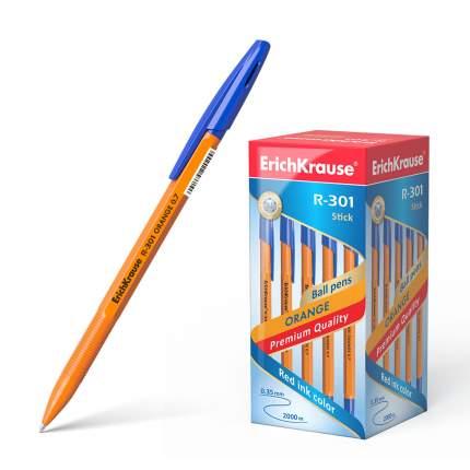 Ручка шариковая ErichKrause® R-301 Orange Stick 0.7, синий в коробке 50 шт