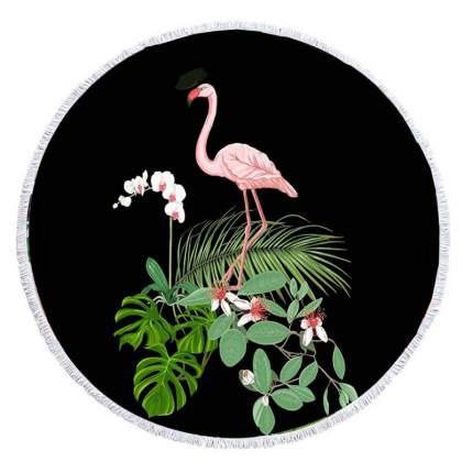 Коврик для пикника Baziator Beach Towel Фламинго на черном фоне BG0082A 150х150 см