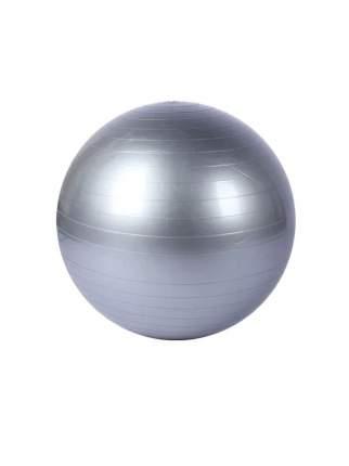 Фитбол, гимнастический мяч для занятий спортом, матовый, серебряный, 75 см